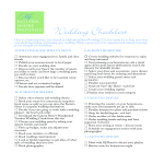 template topic preview image Wedding Checklist 1 year planning