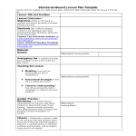 template topic preview image Standards Based Lesson Plan