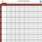 template topic preview image Printable Workout Log Excel sheet