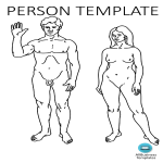 template topic preview image Person Template A4 Landscape PPT