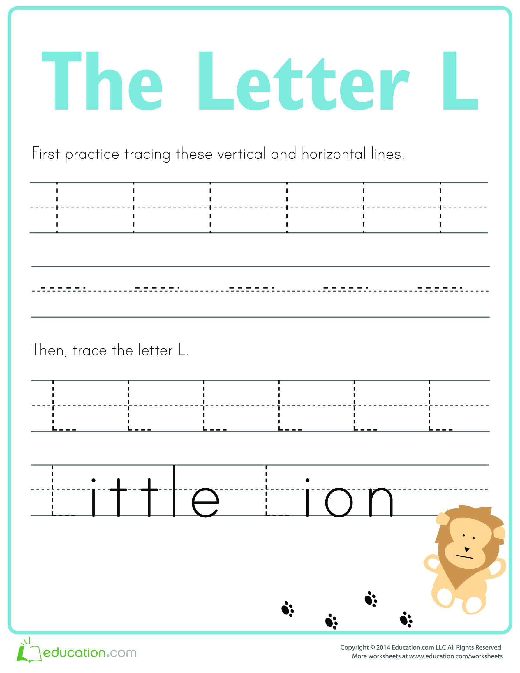 template topic preview image Learn to write letter L