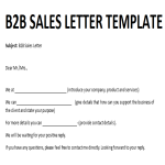 template preview imageB2B Sales Letter