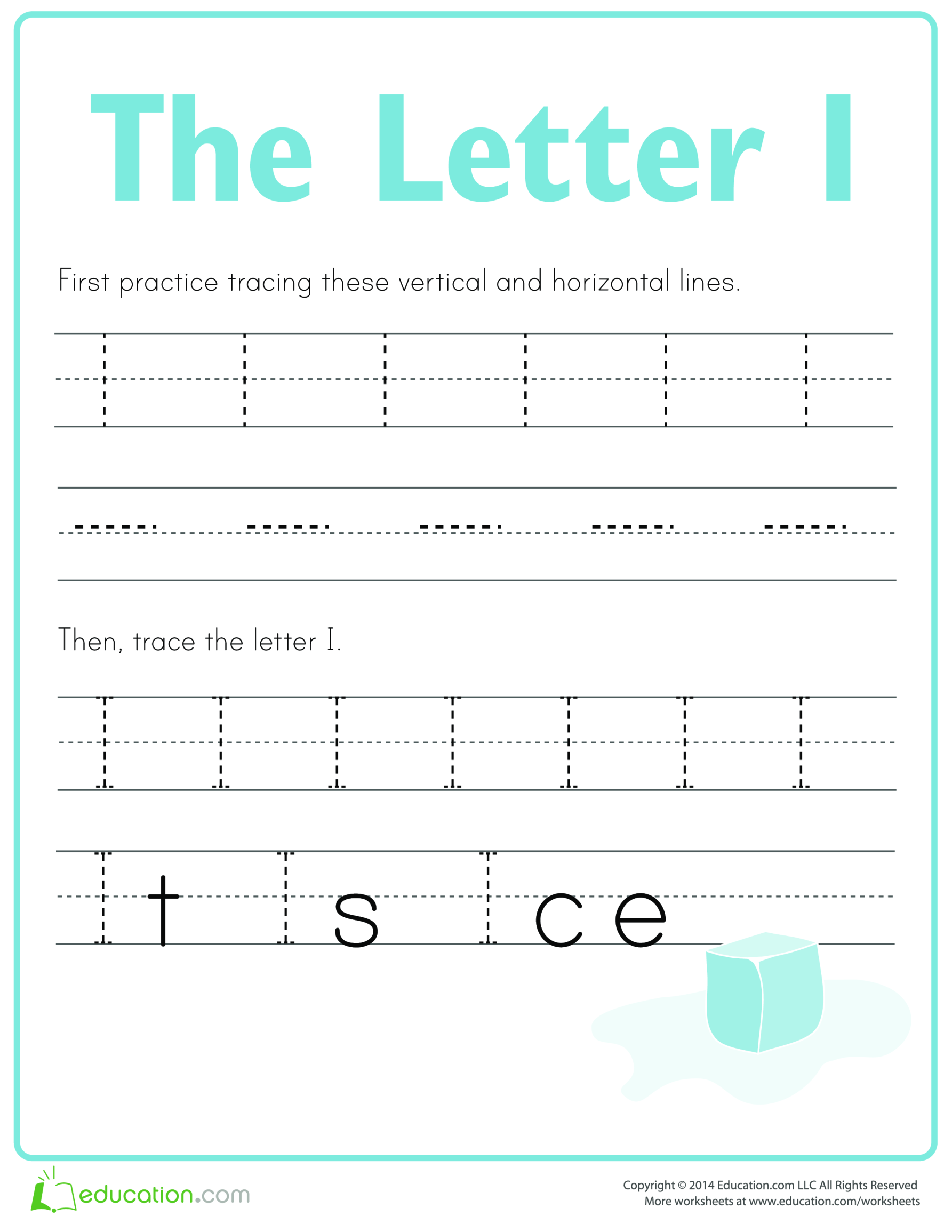 template topic preview image Learn to write letter I