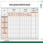 image Office Cleaning and Inspection Schedule