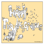 template preview imageHappy Thanksgiving Colouring Page