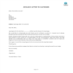 template preview imageApology Letter To Customer