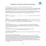 template topic preview image Residential lease agreement with option to purchase