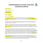 template topic preview image University Teacher job application