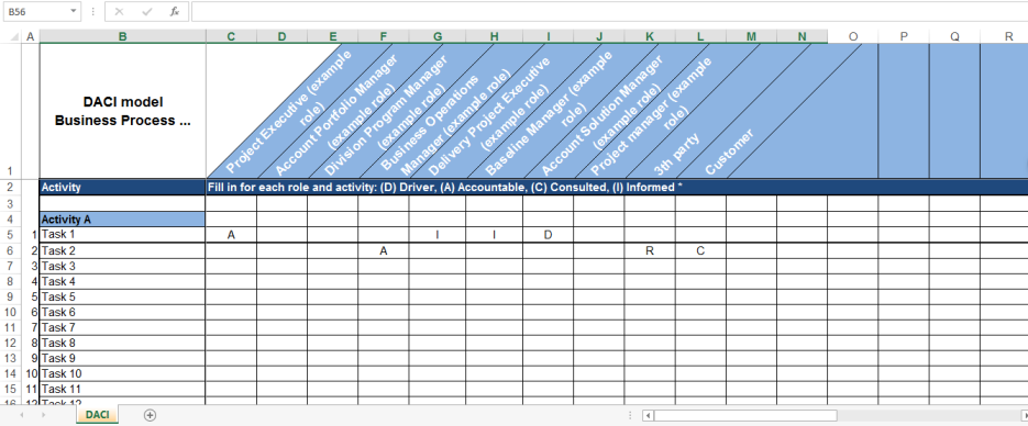 template topic preview image DACI chart excel
