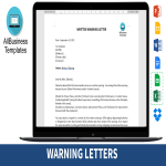 template topic preview image 12 Warning Letter