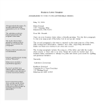 template topic preview image Printable Business Letter