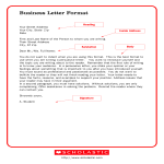 template topic preview image Printable Business Letter Format