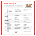 template topic preview image Kids Behavior Incident Report