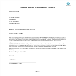 template topic preview image Formal Letter Landlord Notice of Termination Lease