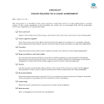image Checklist lease agreement Issues