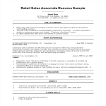 template topic preview image Retail Sales Associate Resume Sample