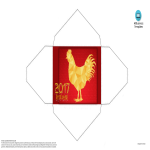 template topic preview image Chinese year 2017 Rooster red envelope
