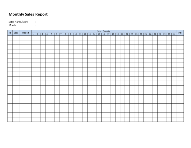 template topic preview image Monthly Sales Report template