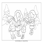 template topic preview image Christmas Coloring Page For Kids
