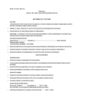 template topic preview image Math Teacher Resume