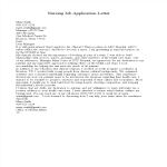 template topic preview image Nursing Application Letter