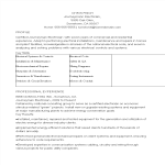 template topic preview image Certified Resume