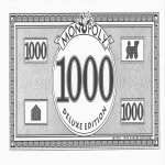 template preview imagePrintable 1000 Bill Monopoly Money
