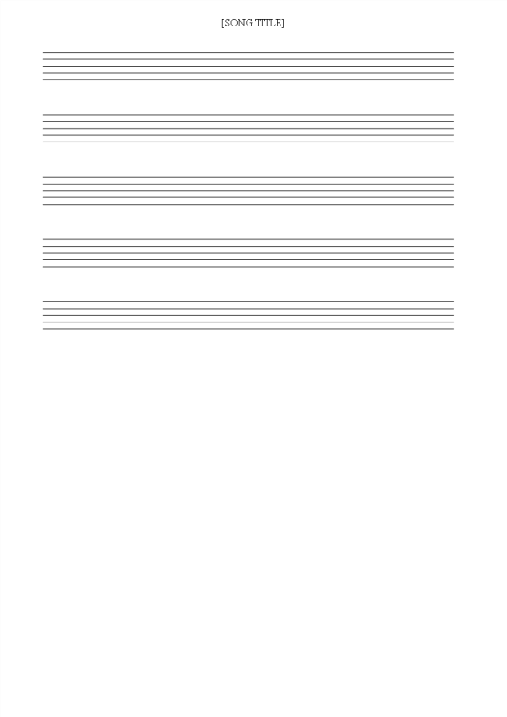template topic preview image Blank Music Staff Sheet with 8 lines