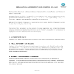 template topic preview image Employee Separation Agreement template