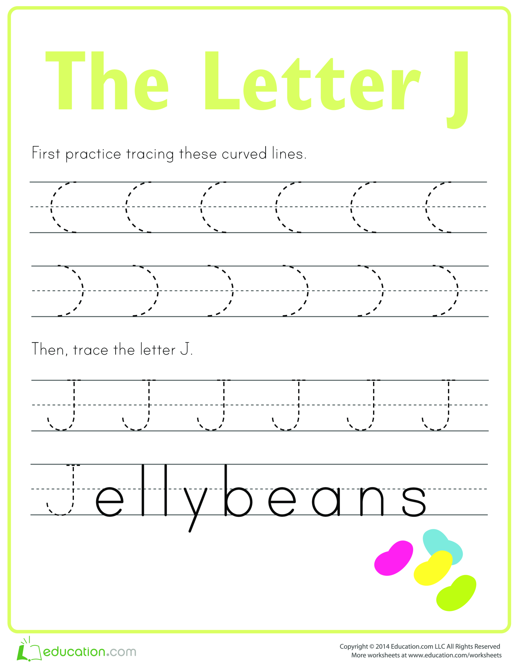 template topic preview image Learn to write letter J