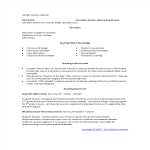 template topic preview image Elementary School Teacher Resume template