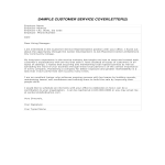 template topic preview image Customer Service Cover Letter