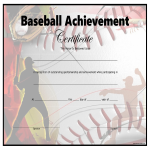 template preview imageBaseball Achievement Certificate