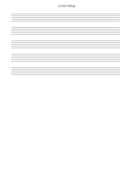 template topic preview image Free printable Music Staff Sheet 10 lines