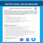 template topic preview image Entry Level Sales Job Resume