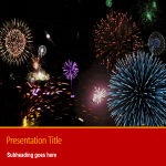 template topic preview image Chinese New Year Fireworks PPT Presentation