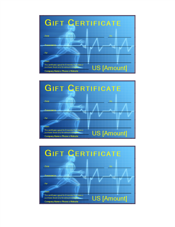 template preview imageFitness Gift Certificate
