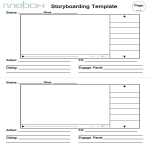 template topic preview image Video Storyboard A4 template