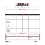 template topic preview image Blank Preschool Lesson Plan