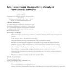template topic preview image Management Consulting Analyst Resume