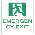 template topic preview image Emergency Exit Sign