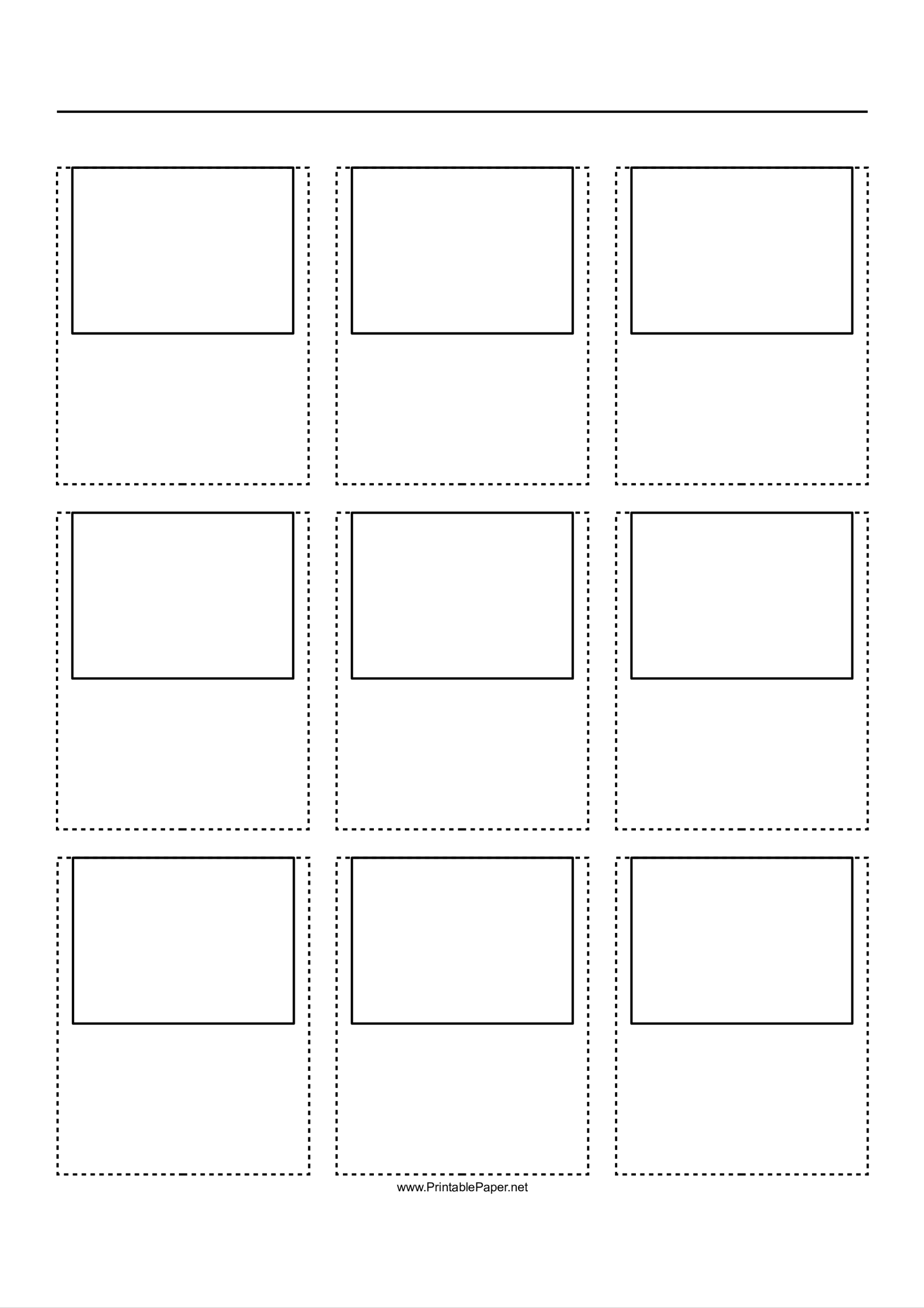 template topic preview image Free A4 Storyboard 4x3 and 3x3