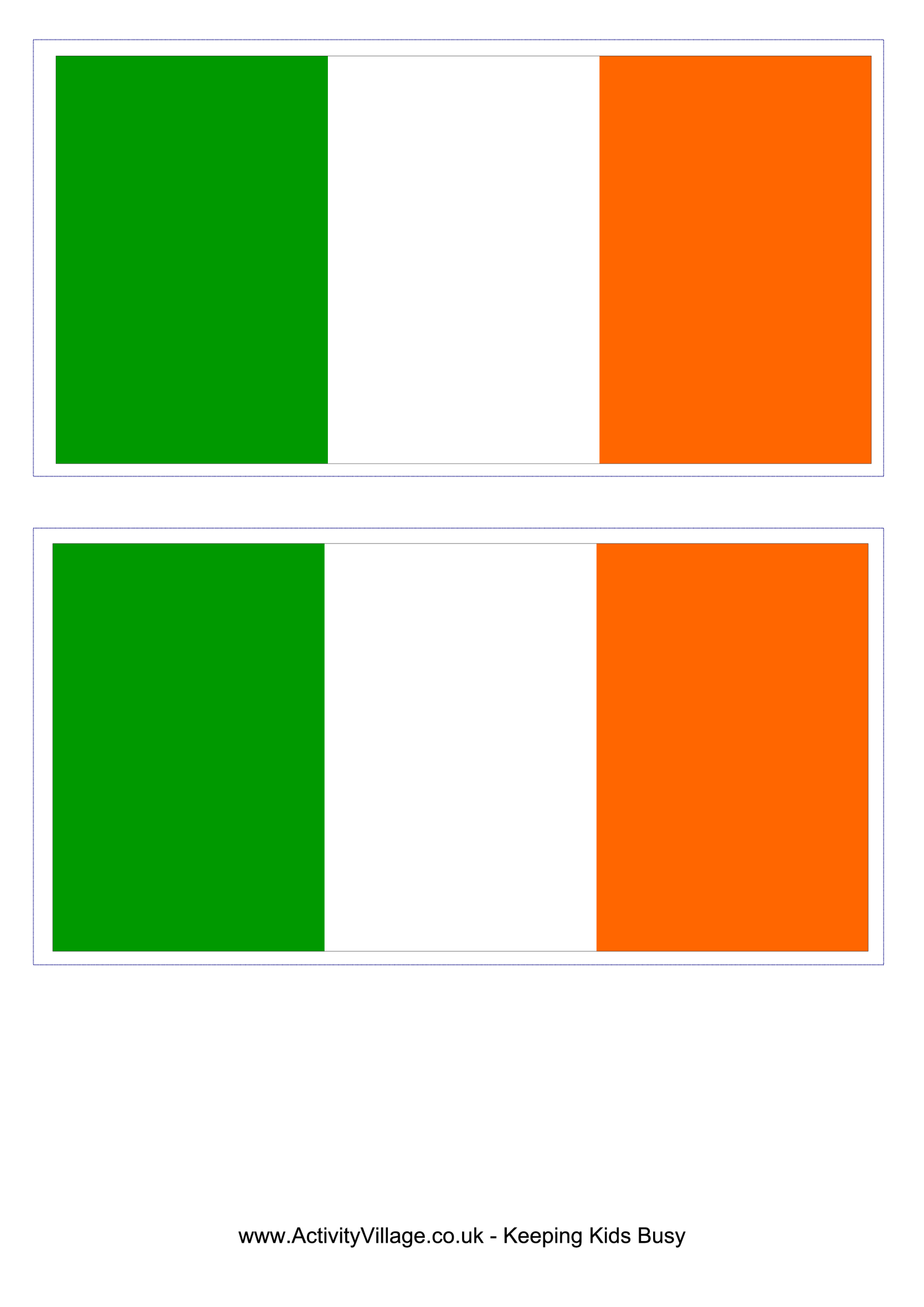 template preview imageIrish Flag
