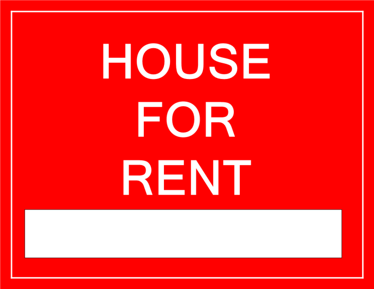 template topic preview image For Rent Sign for a House