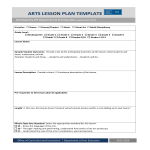 template topic preview image Art Lesson Plan Outline