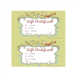 template topic preview image Homemade Gift Certificate Word