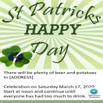 template topic preview image Saint Patrick's day Invitations