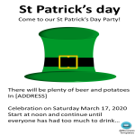 template topic preview image St Patricks Day Poster