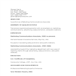 template topic preview image Marketing Communications Associate Resume