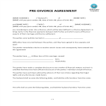 template topic preview image Pre-Divorce Agreement